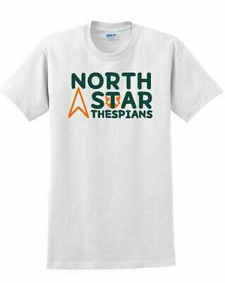 North Star Thespians 2 color logo T-shirt - 5 Color Options (Youth and Adult) (FDD)