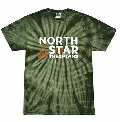 North Star 2 Color Tie Dye Short Sleeve Tshirt (FDD)