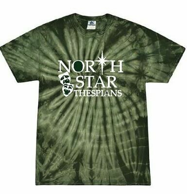 North Star Thespians Tie Dye Short Sleeve Tshirt (FDD)