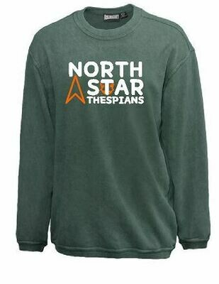 North Star 2 color design Sandwash Crewneck (FDD)