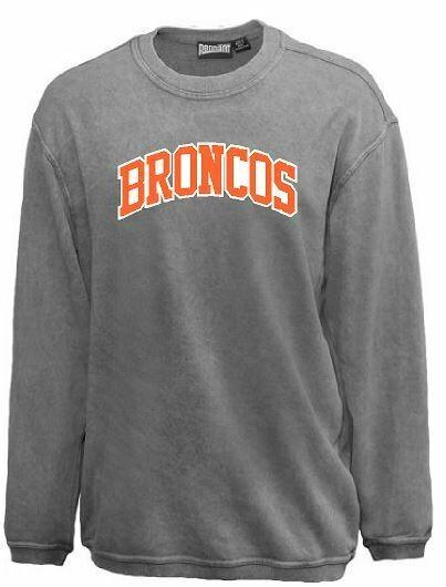 Broncos Sport Twill Applique Sandwash Crewneck (FDGS)