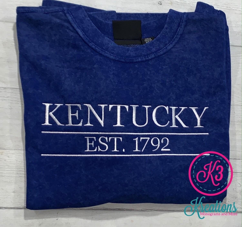 Royal Sand Wash Kentucky Est. 1792 Crewneck Sweatshirt