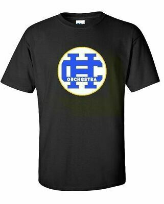 HC Orchestra Short Sleeve T-shirt with Front Chest Design(HCO)