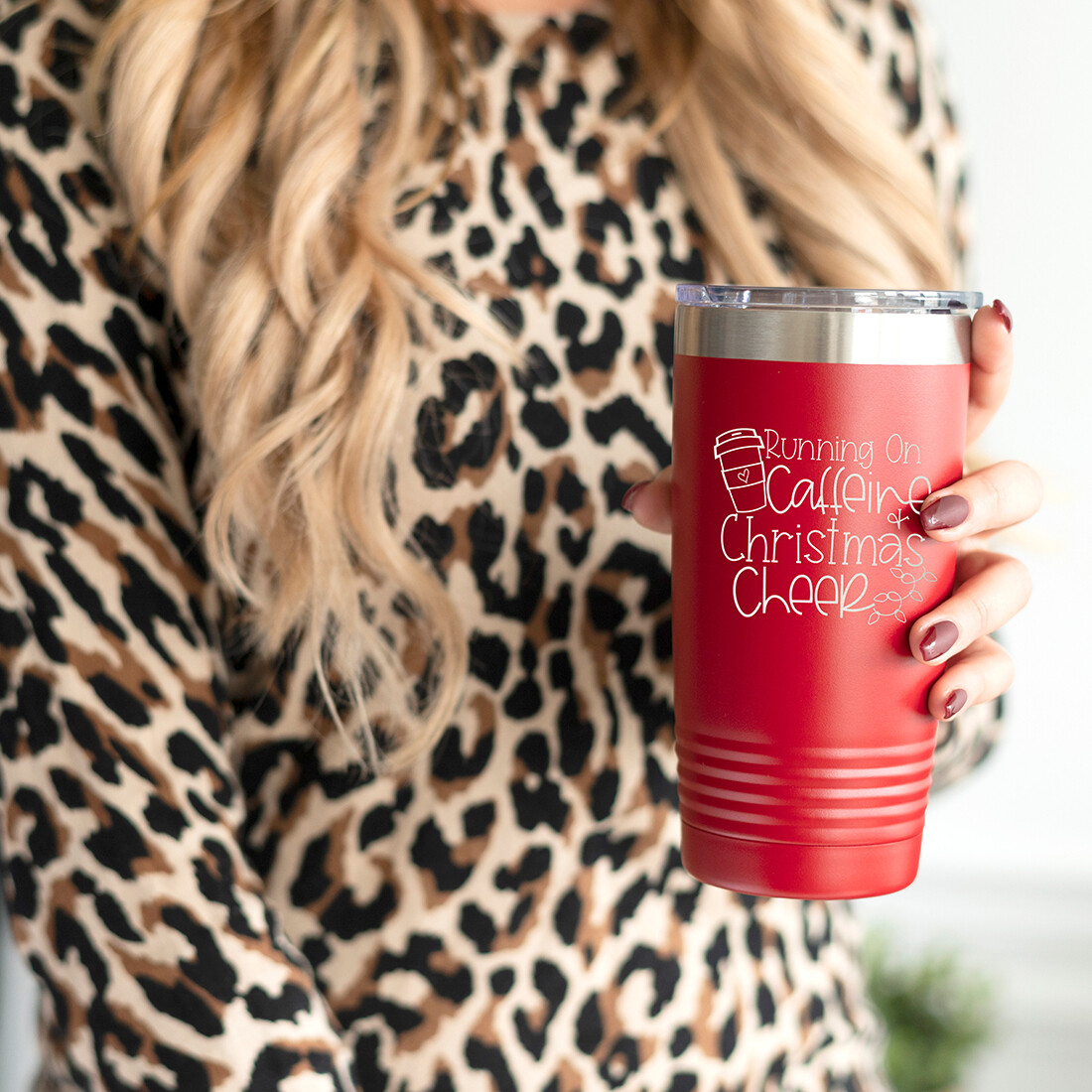 Caffeine & Christmas Red Insulated Tumbler