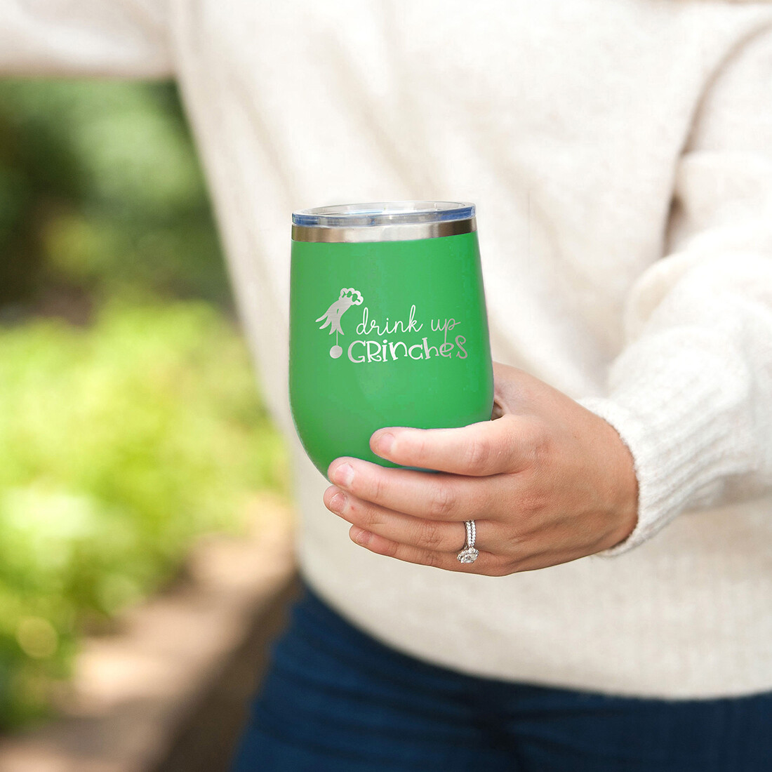 Drink Up Grinches Green Insulated Tumbler