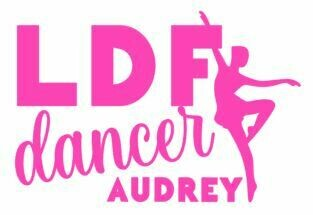 Personalized LDF Dancer Vinyl Adhesive Decal