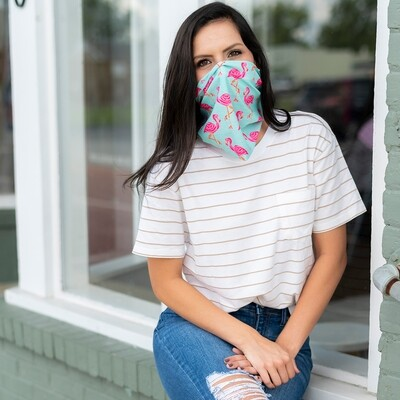 Tickled Pink Flamingo Neck Gaiter