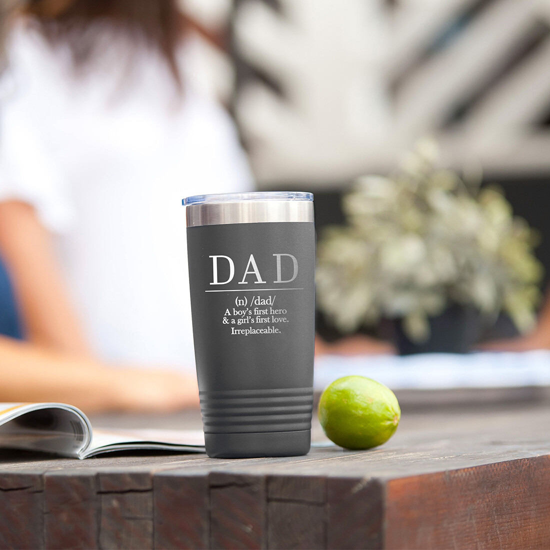 Definition of Dad Grey Tumbler