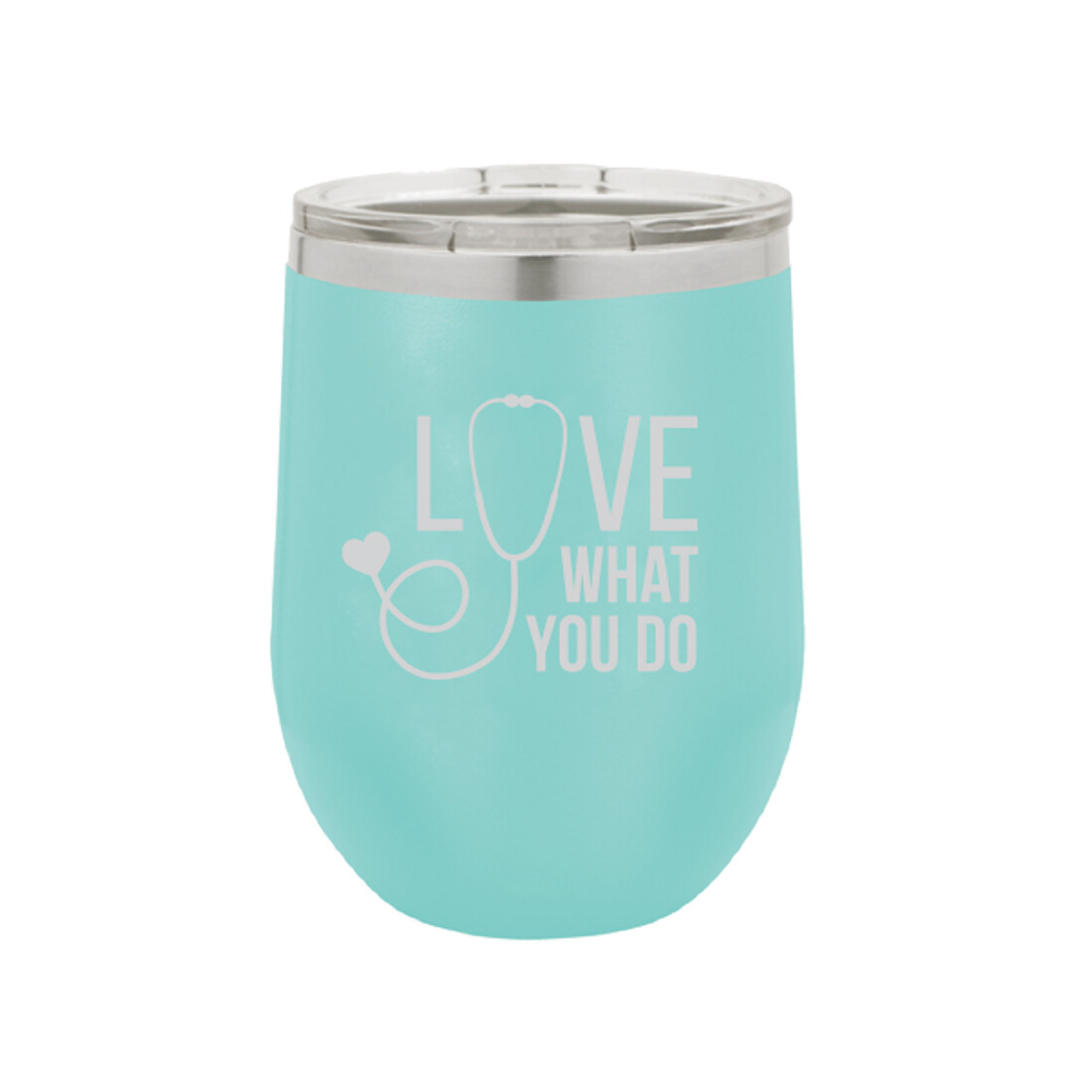 Love What You Do Teal Tumbler