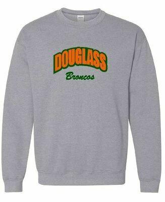Douglass Broncos Applique Crewneck (FDGS)