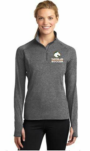 Sport Tek Ladies 1/4 Zip Sport Wick Pullover -Douglass Broncos (FDGS)