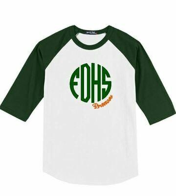 FDHS Broncos Monogram Baseball T-shirt (FDGS)