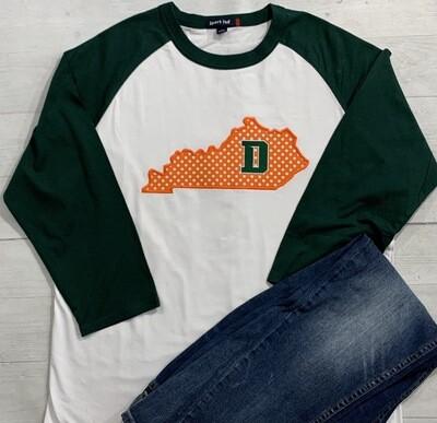 Kentucky with Douglass D Applique Baseball T-shirt (FDGS)