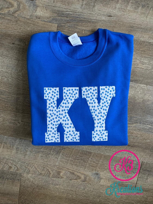 KY Pawprint Royal Crewneck Sweatshirt