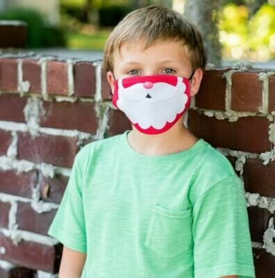 Jolly Santa Adjustable Kids Face Mask