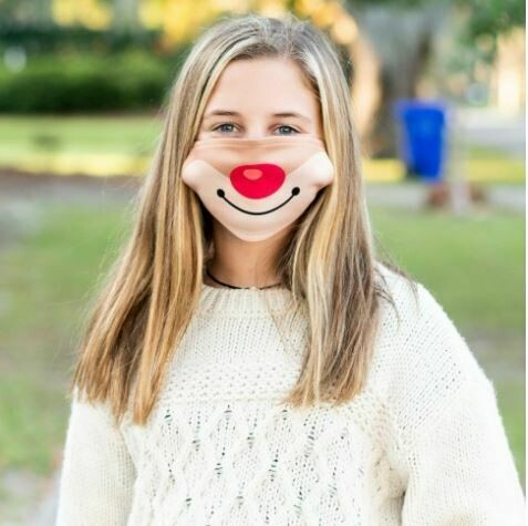 Rudolph Adjustable Kids Face Mask