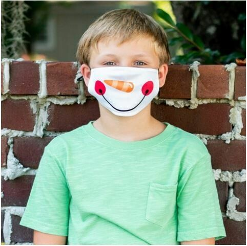 Snowman Adjustable Kids Face Mask