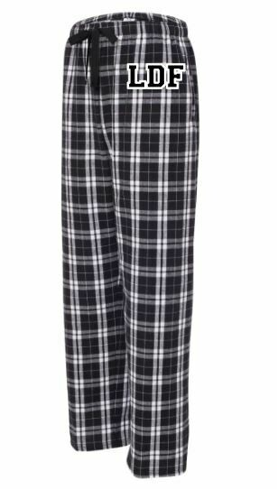 Boys LDF Black & White Plaid Flannel Pajama Pants