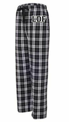 Boys/Mens LDF Black & White Plaid Flannel Pajama Pants (Youth & Adult)