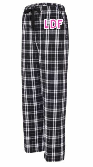 Girls LDF Black & White Plaid Flannel Pajama Pants