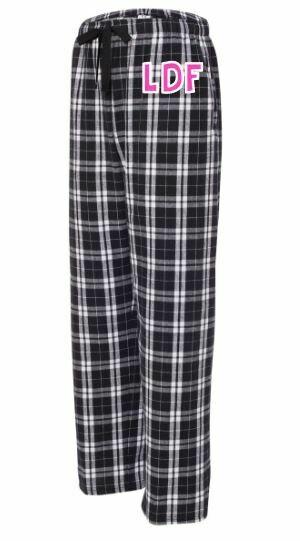 Girls LDF Black & White Plaid Flannel Pajama Pants