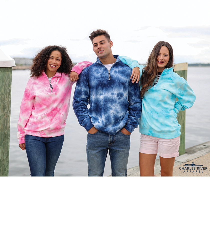 Adult Crosswind Quarter Zip Tie-Dye Sweatshirt