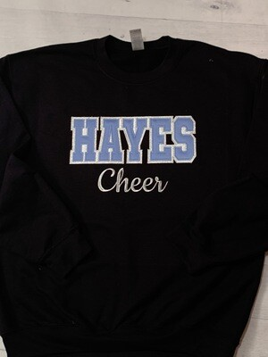Hayes Cheer Sweatshirt (Youth and Adult Sizes)