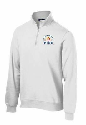 RISE Unisex 1/4 Zip Fleece Pullover with choice of logo