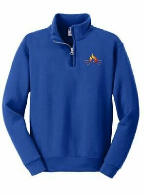 RISE Youth 1/4 Zip Fleece Pullover with choice of logo
