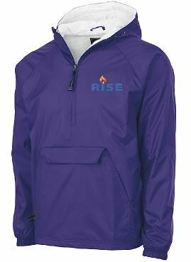 RISE Charles River 1/2 Zip Rain Pullover with choice of logo