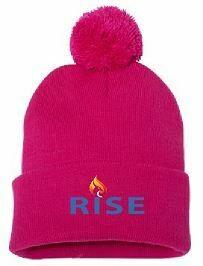 RISE Pom-Pom Beanie with choice of logo