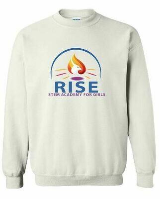 RISE Unisex Crewneck Sweatshirt with full logo on front chest - YOUTH SIZING