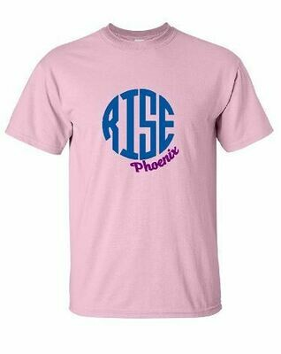 RISE Monogram Unisex Short Sleeve T-shirt - ADULT SIZING