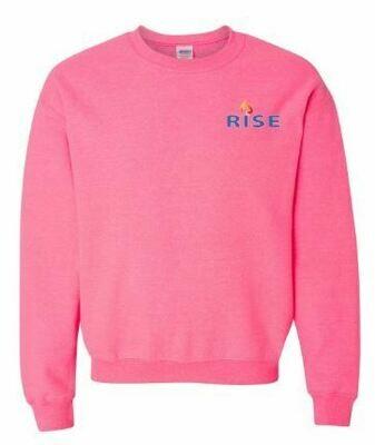 RISE Unisex Crewneck Sweatshirt with choice of logo - YOUTH SIZING