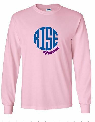RISE Monogram Unisex Long Sleeve T-shirt - YOUTH SIZING