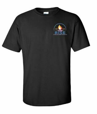RISE Unisex Short Sleeve Tee with choice of logo - ADULT SIZING