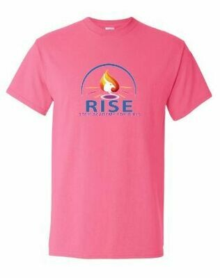 RISE Unisex Short Sleeve Tee with full logo on front chest - YOUTH SIZING