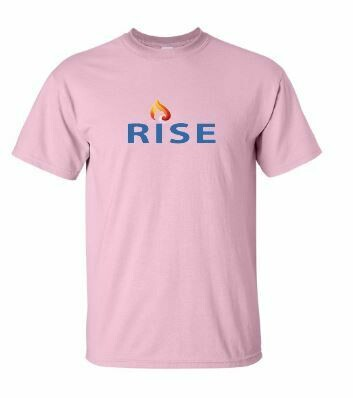 RISE Unisex Short Sleeve Tee with Rise logo on front chest - YOUTH SIZING