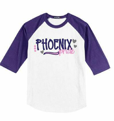 Phoenix Pride Baseball T-shirt - YOUTH SIZING