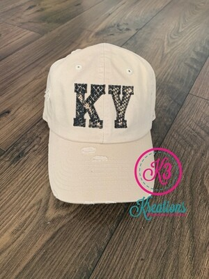 KY Snakeskin Applique Distressed Cap