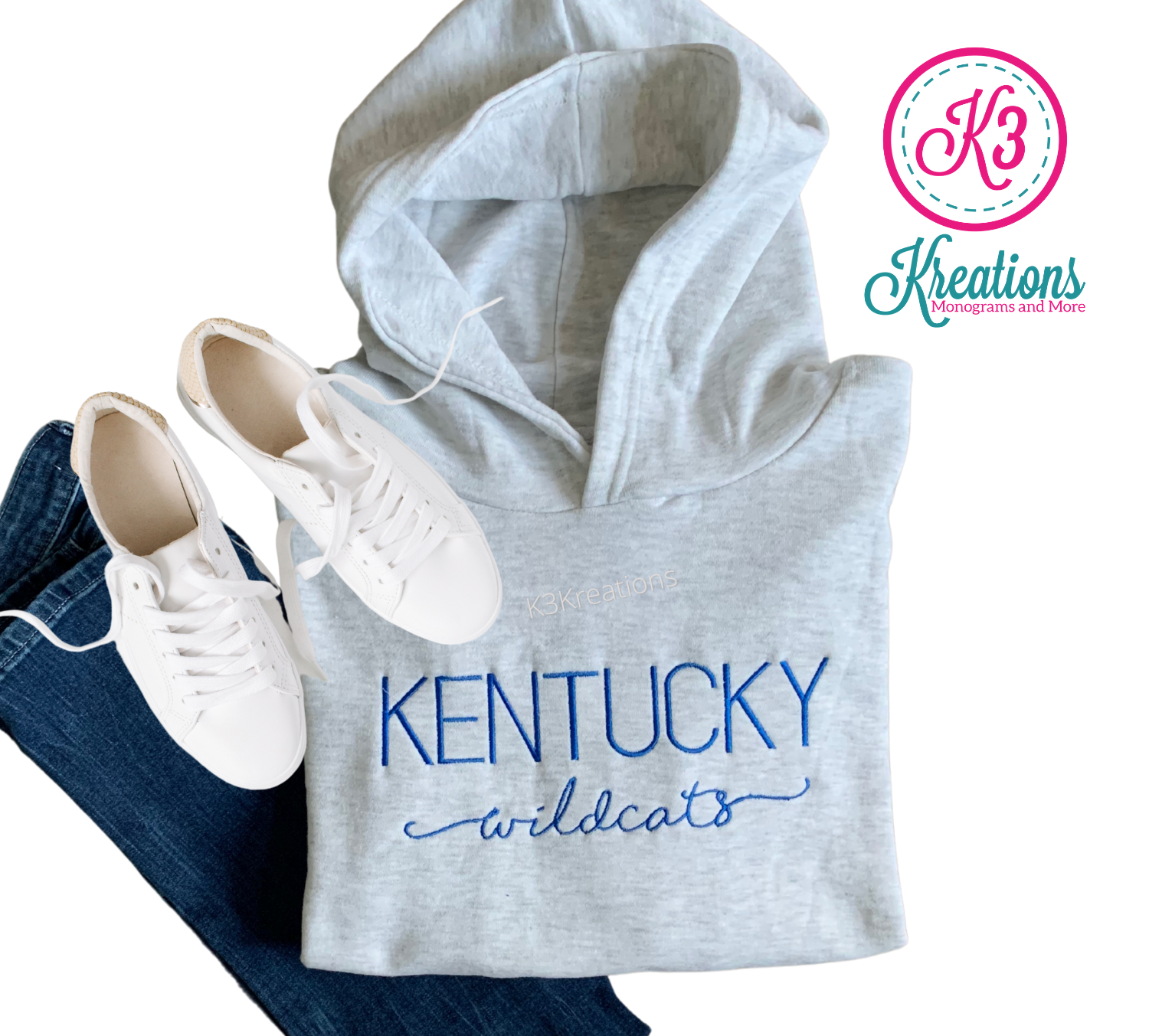 Adult Kentucky Wildcats Varsity Relaxed Hoodie
