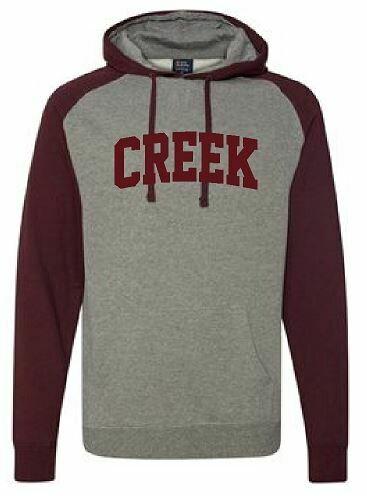 CREEK Unisex Raglan Hoodie  (TCDT) Choice of Design Fabric