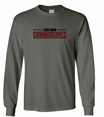 Tates Creek Commodores Unisex Long Sleeve  YOUTH and ADULT (TCDT)