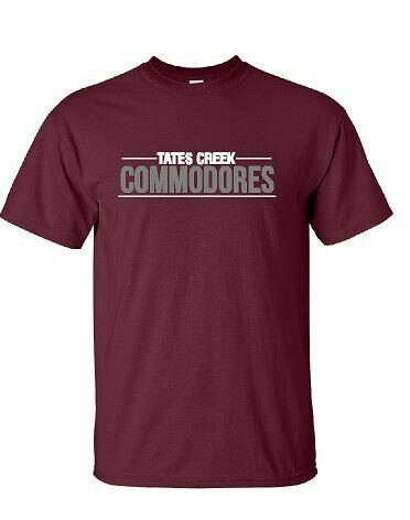 Tates Creek Commodores Unisex Short Sleeve  YOUTH and ADULT  (TCDT)