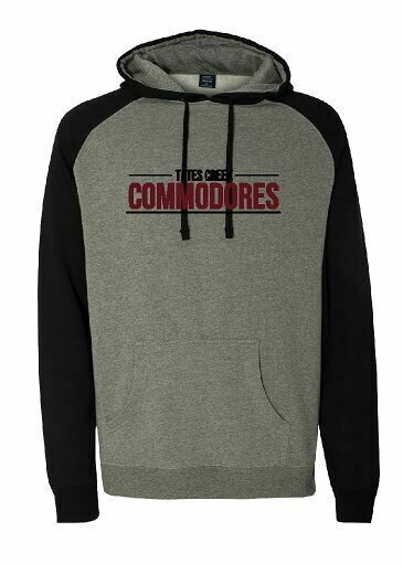 Tates Creek Commodores Unisex Raglan Hoodie  (TCDT)