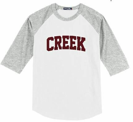 CREEK Baseball Jersey - YOUTH and ADULT - Choice of Design Fabric (TCDT)