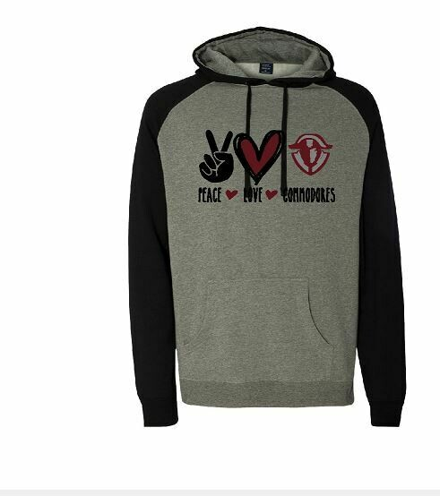 Peace Love Commodores Unisex Raglan Hoodie  (TCDT)