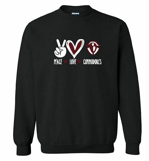 Peace Love Commodores Unisex Crewneck - YOUTH and ADULT  (TCDT)