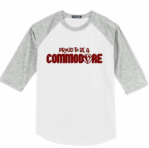 Proud To Be A Commodore Unisex Baseball  YOUTH and ADULT (TCDT)