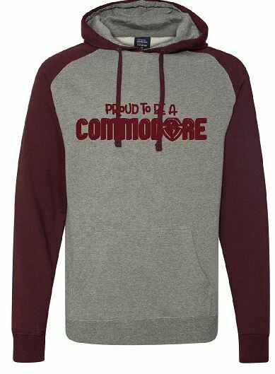 Proud To Be A Commodore Unisex Raglan Hoodie  (TCDT)